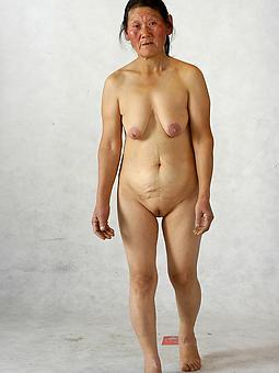 Asian women older naked Hairy Asian